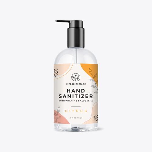 Minimalist & Playful Label Design for Hand Sanitizer