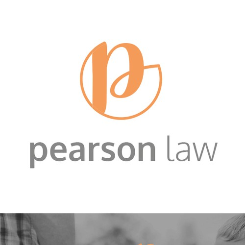 Create a simple, nontraditional logo and website for a small law firm.