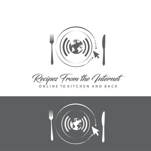 Logo design for online recipes database
