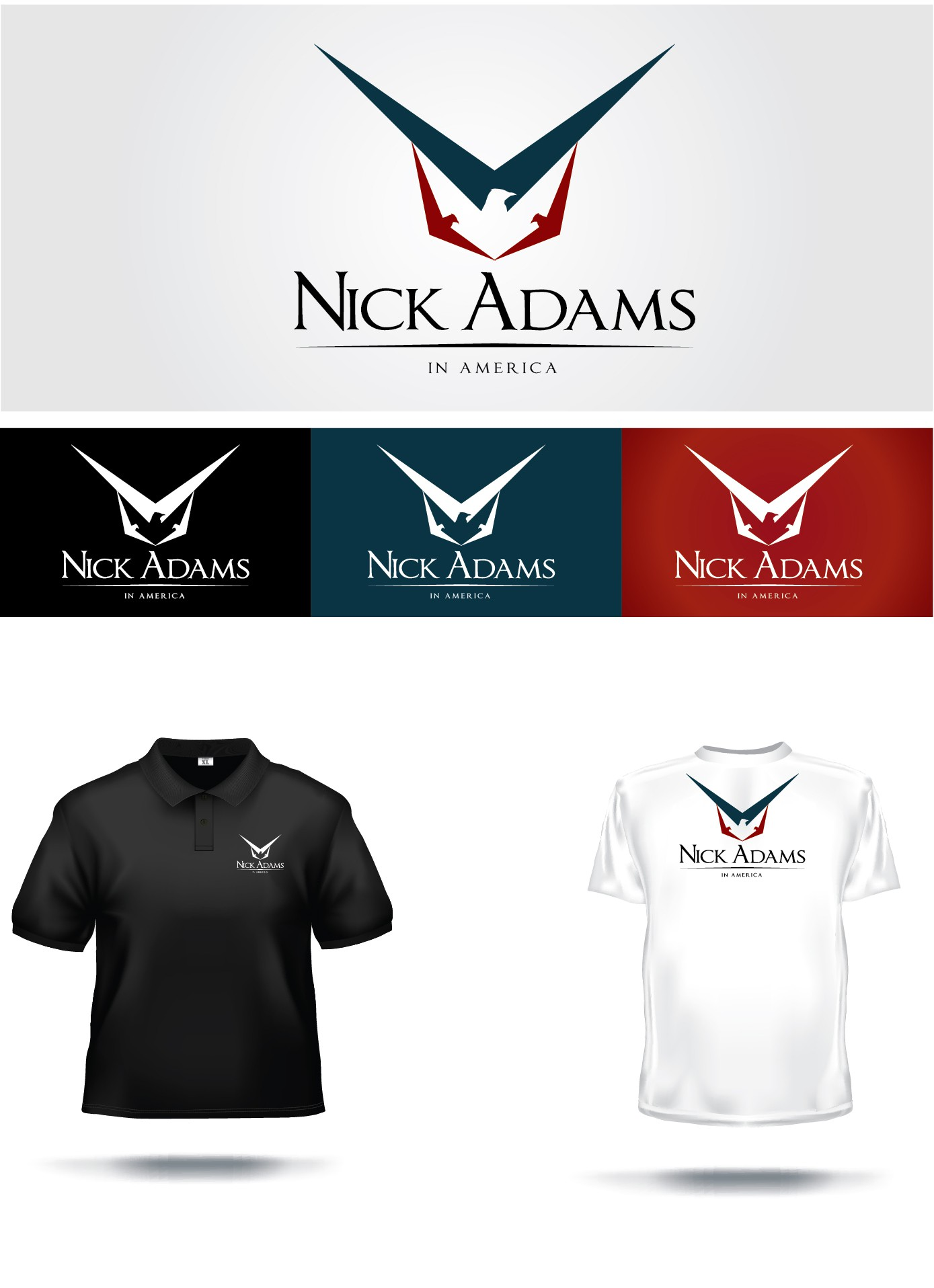 Nick Adams in America needs a new logo