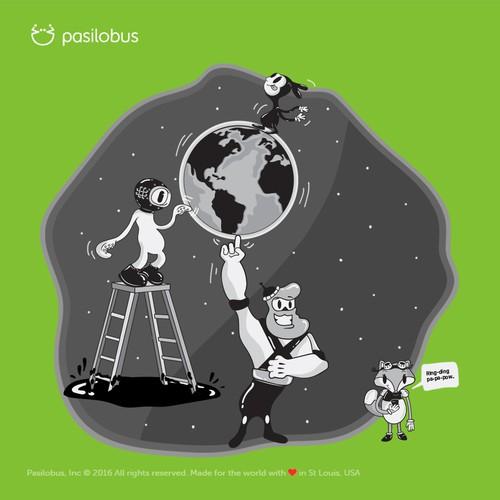 Creative Illustration Design for a WebSite Brand Agency