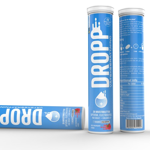 Design a tube label for a natural, modern OTC oral rehydration solution