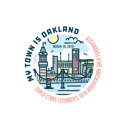 Super Stars Literacy - Oakland Logo