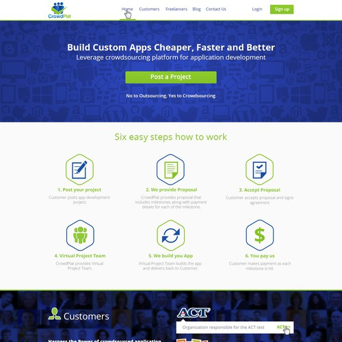 Create graphics designs for CrowdPlat website