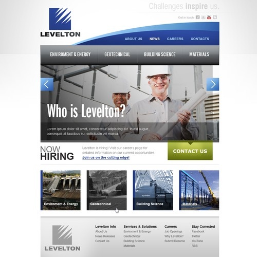 Team of professional engineers, scientists & technologists looking for a new website