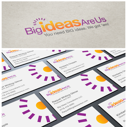 logo and business card for Big Ideas R Us
