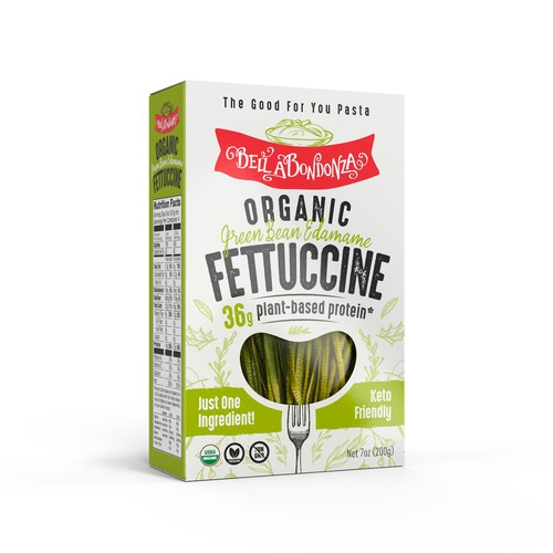 Packaging Design for Organic Fettuccine