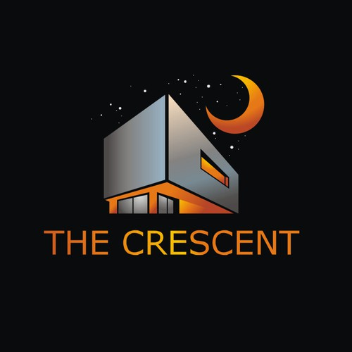 The Crescent: Logo for Upscale/Urban/Chic Residential Building