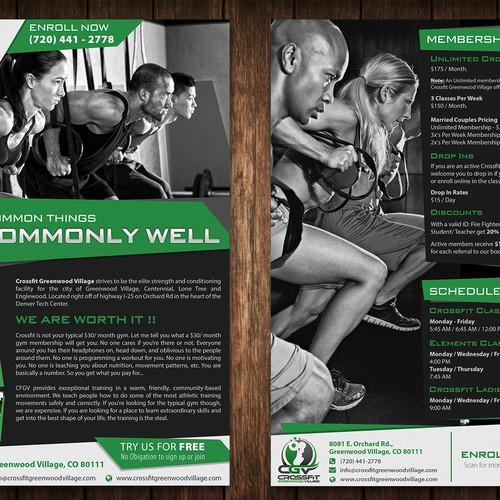 postcard, flyer or print for CrossFit Greenwood Village