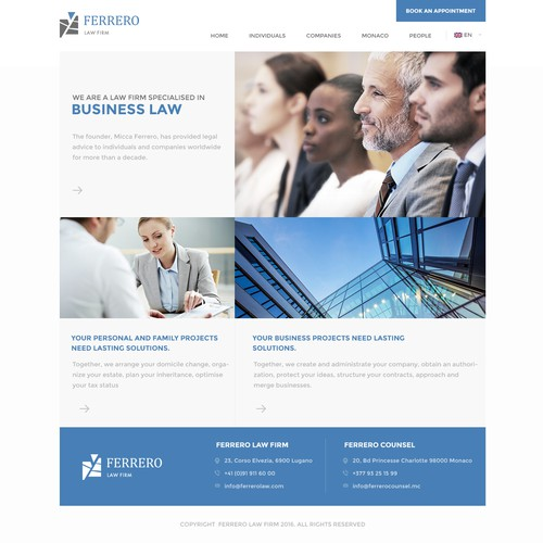 International Business Lawyer Website