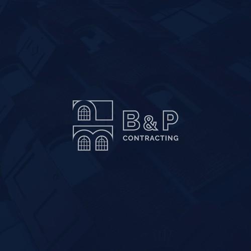 B & P Contracting logo concept .
