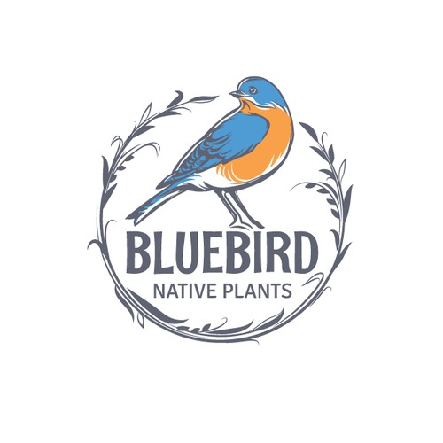Logo design, bird logo for garden company