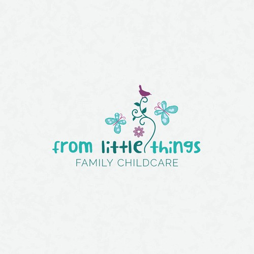 Sweet logo and business card design for family childcare business