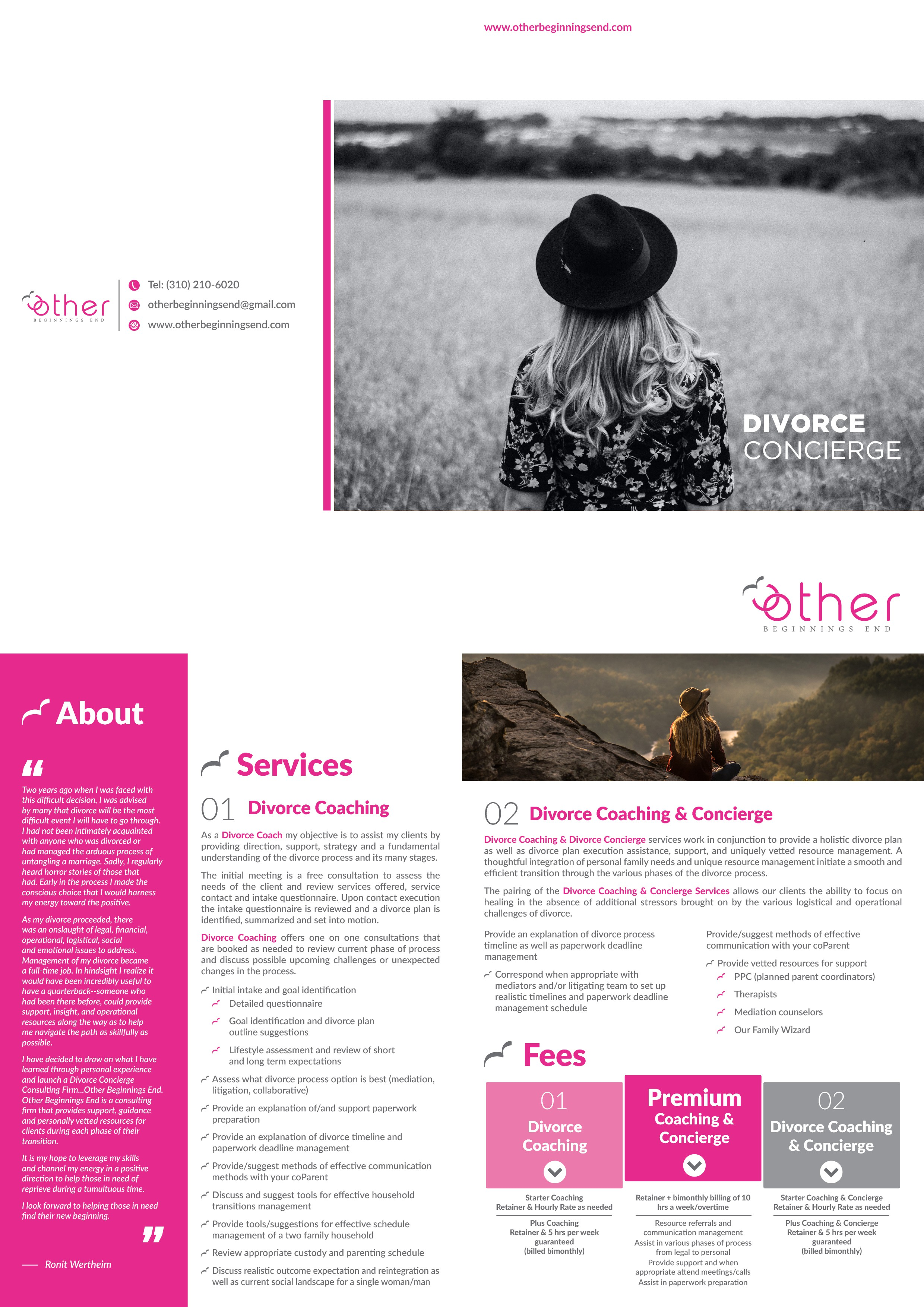 Other beginnings end promotional brochure f
