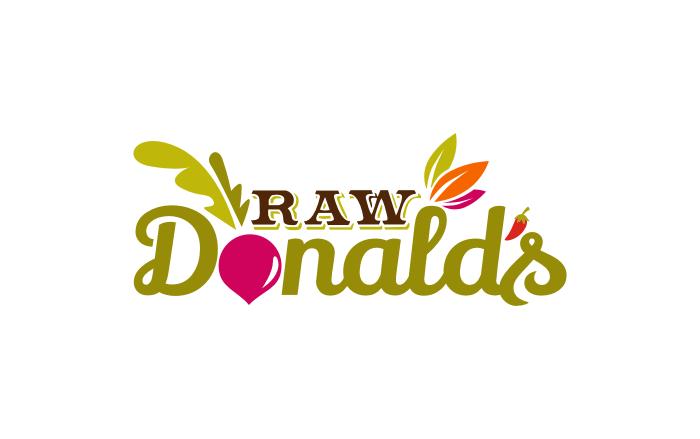 logo for RawDonald's
