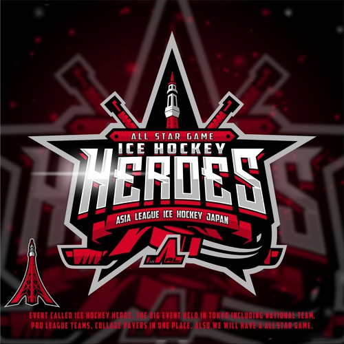 All Star Game Heroes Logo Hockey design