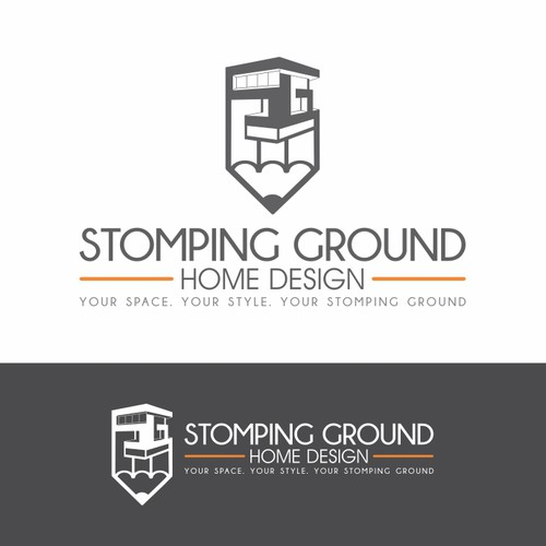 Unique logo for our unique name – Stomping Ground Home Design - Guaranteed