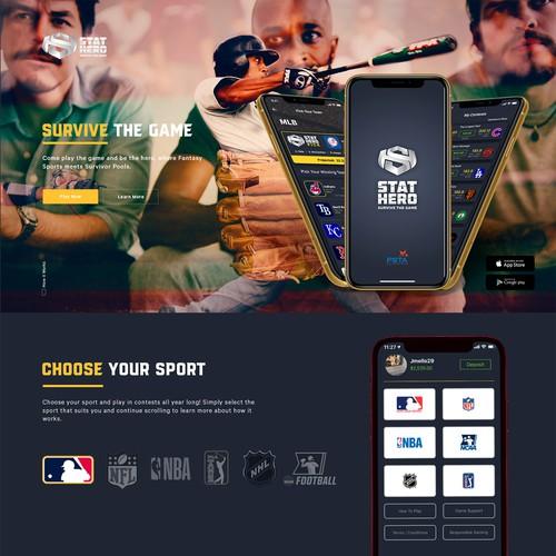 Fantasy Sports Website Design