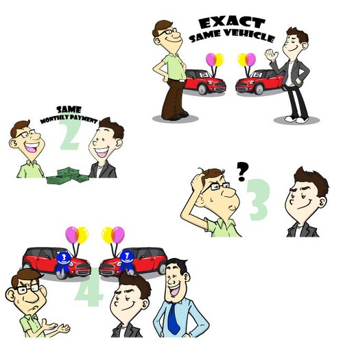 Cartoon character for slideshow