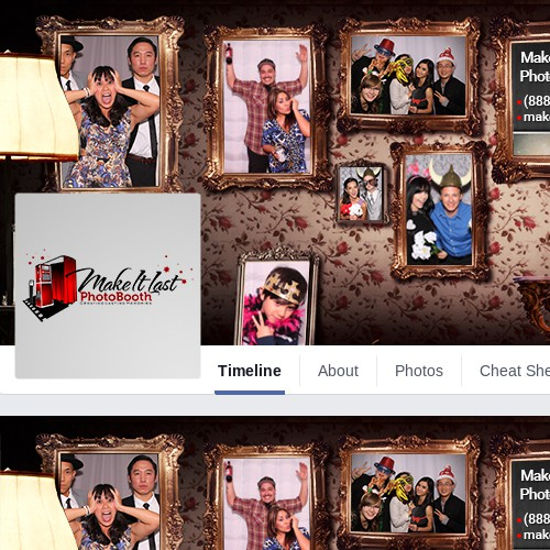 Facebook Cover Design for Make It Last Photo Booth