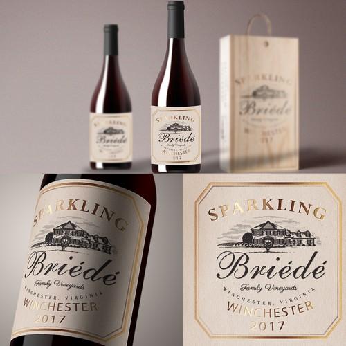 Elegant Sparkling Wine Label