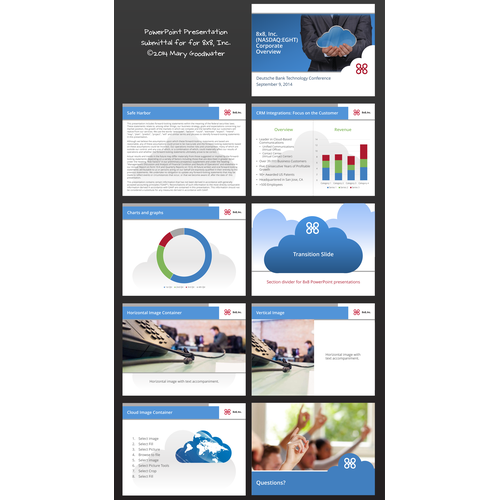 CLEAN, MODERN, FLAT Powerpoint template for Technology Company!