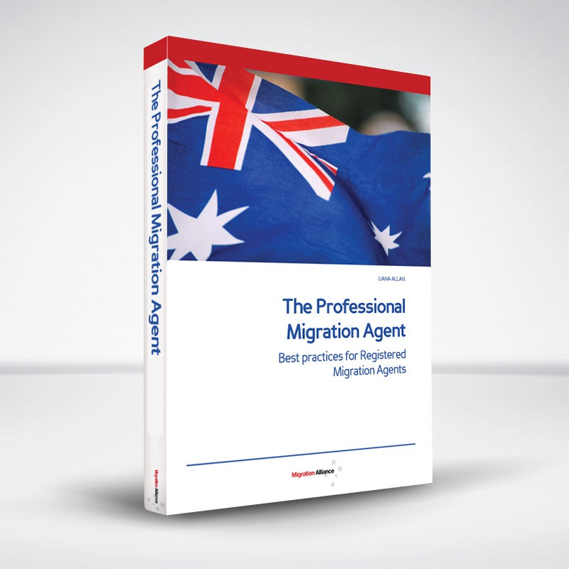 Help me with a new book cover  - operating manual for registered migration agents