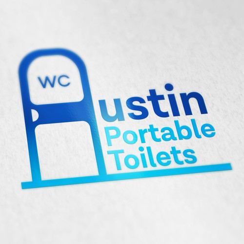Logo design for Austin Portable Toilets.
