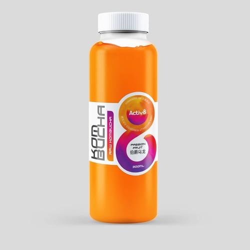 Kombucha Drink label