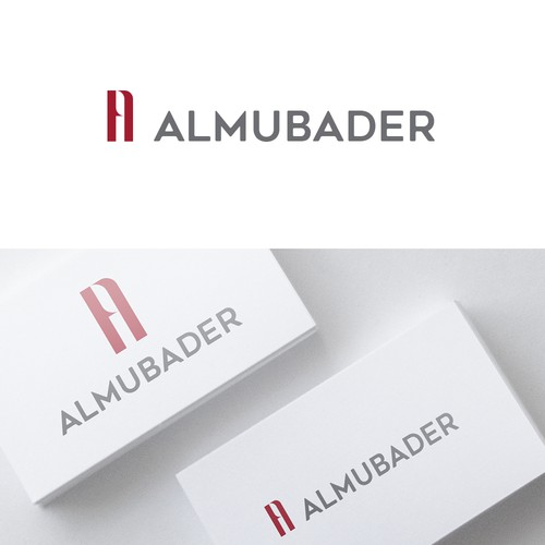 Negative space logo concept for ALMUBADER