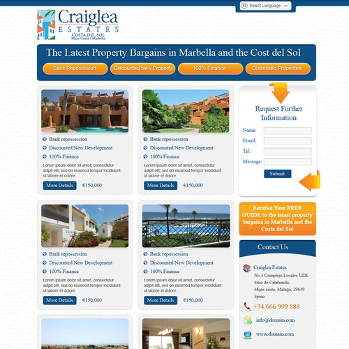 Craiglea Real Estate needs a new website design