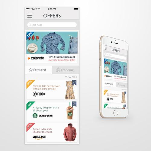 Student discounts app