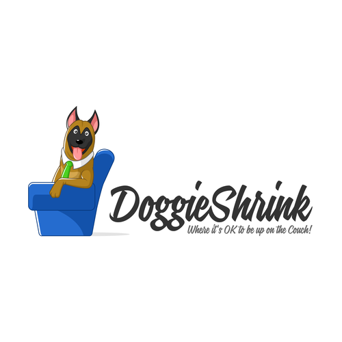 Dog Character Logo for Dog Trainer Company