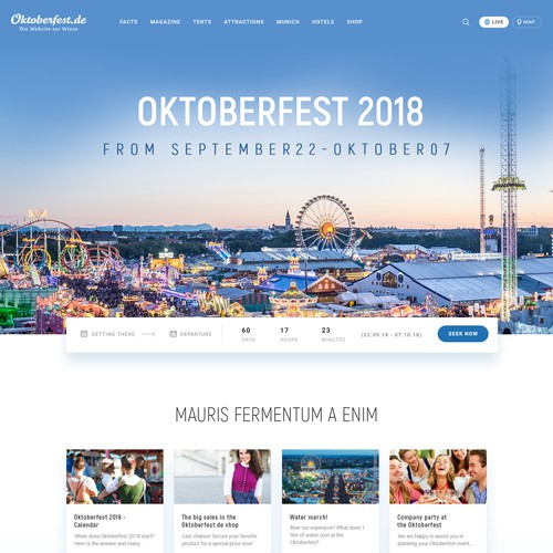 oktoberfest.de is the original website of the world famous festival in Munich, Germany