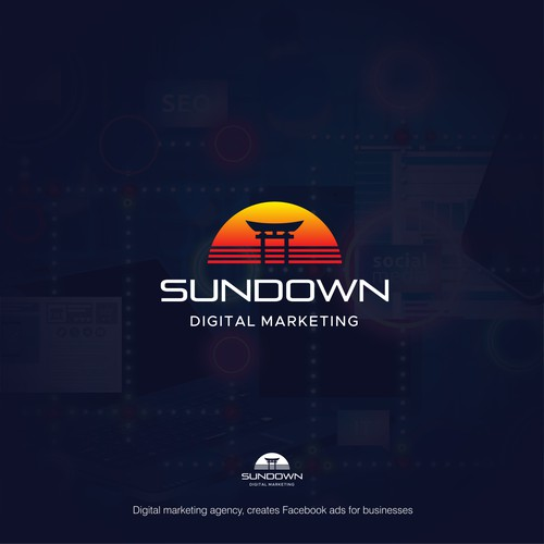 Modern logo design for SUNDOWN Digital Marketing
