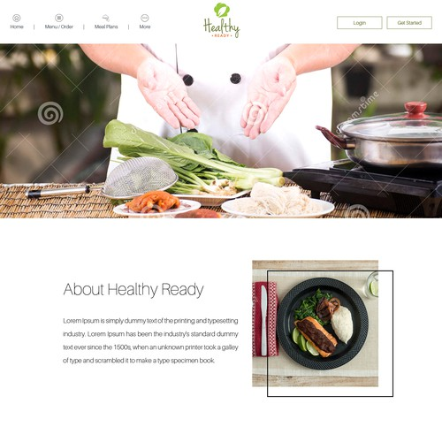 Homepage Design For a Cooking Site
