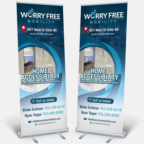 Worry Free Mobility needs an eye catching store front graphic!