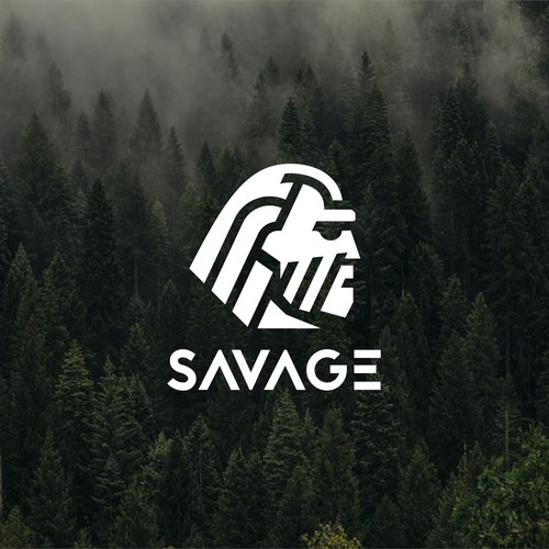 SAVAGE - outdoor training clothing brand logo design