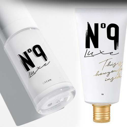 Luxury logo for Nº 9 hair care product line