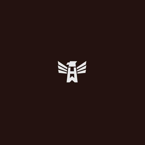 HW monogram with eagle
