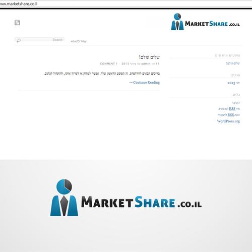 Create the next logo for MarketShare.co.il
