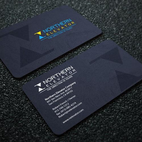 Northern Elevator Business Card Custom Design