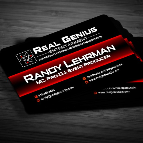 Create the winning logo to Real Genius Entertainment: Voted #1 DJ in Los Angeles by CBS