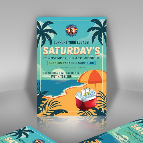Poster Design for Surfers Paradise Surf Club