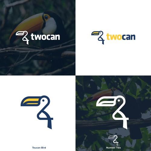Lineart Toucan Bird Logo