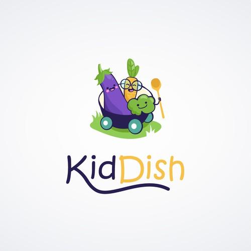 KidDish Logo Design