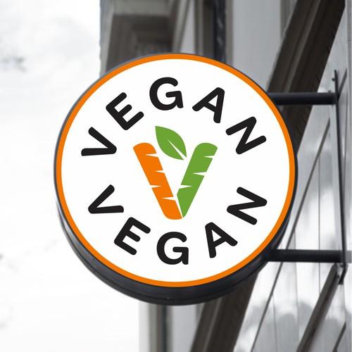 Logo for vegan fast food restaurant