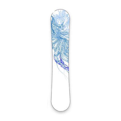 Snowboard print design