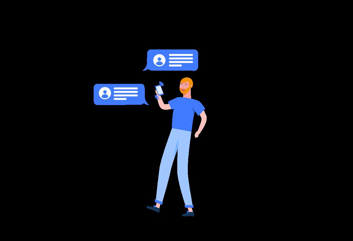 4 Illustrations for Mobile App Screens