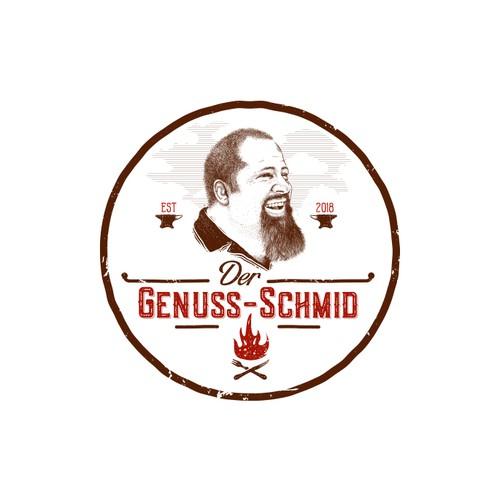 Vintage hand-drawn logo for Der Genuss-Schmid